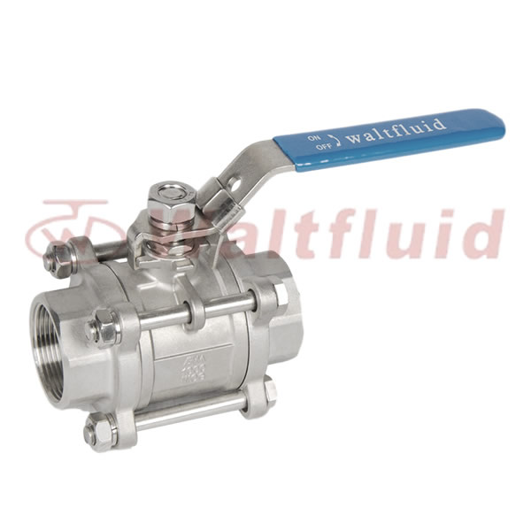 3-PC Stainless Steel Ball Valve Full Port, 1000WOG (PN69)