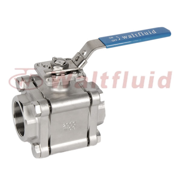 3-PC Stainless Steel Ball Valve Full Port 2000WOG(PN138) ISO-Direct Mount Pad