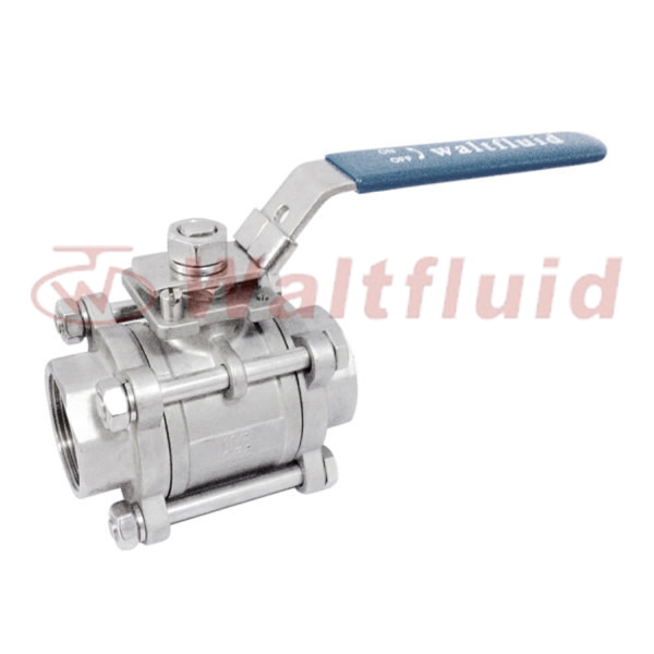 3-PC Stainless Steel Ball Valve Full Port, 1000WOG(PN69) ISO 5211 Mount pad