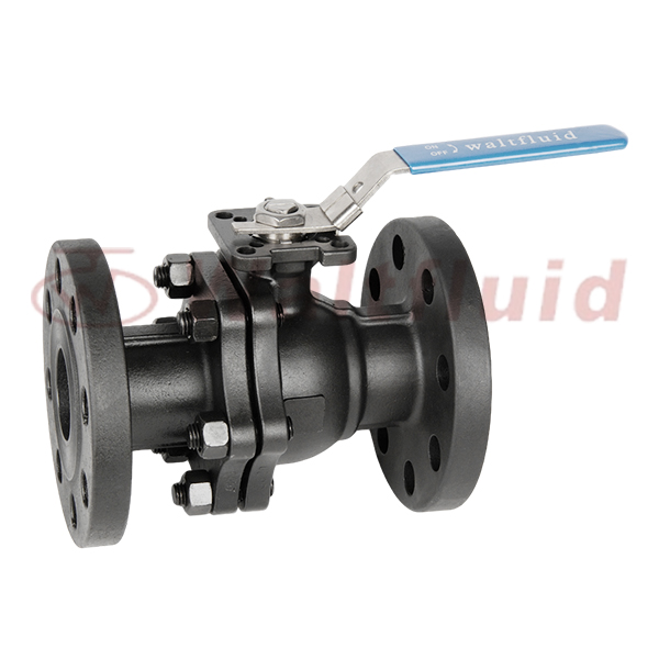 2-PC Carbon Steel Ball Valve Full Port,Flange  End 300Lb ISO5211-Direct Mount Pad