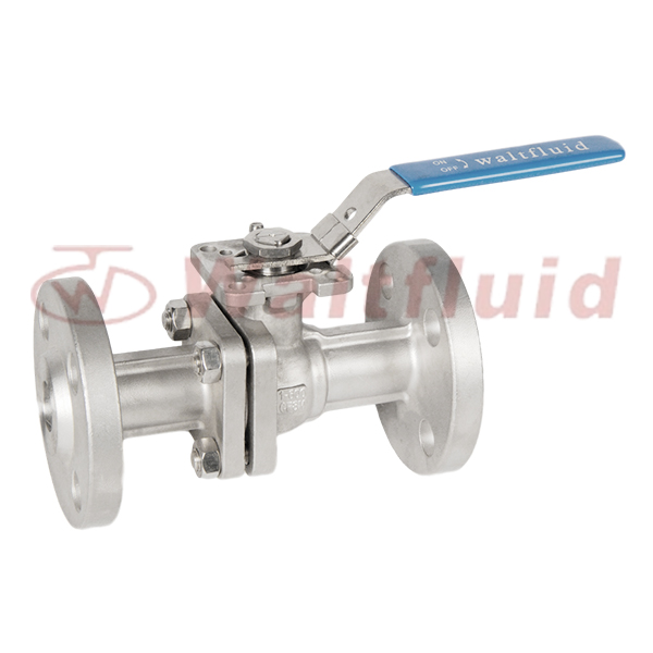 2-PC Stainless Steel Ball Valve Full Port,Flange  End 600Lb ISO5211-Direct Mount Pad