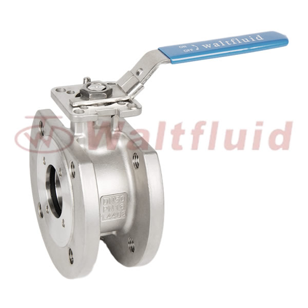 Wafer Type Stainless Steel Ball Valve Full Port, Flange End PN16 ISO5211-Direct Mount Pad