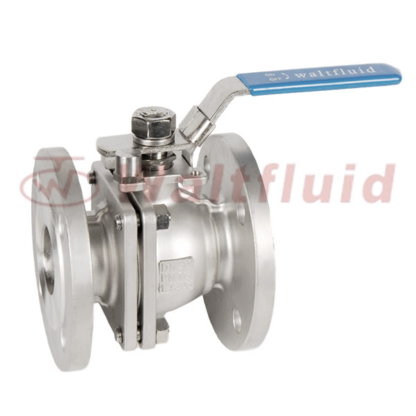 2-PC Stainless Steel Ball Valve Full Port,Flange End PN16 ISO5211-Mount Pad