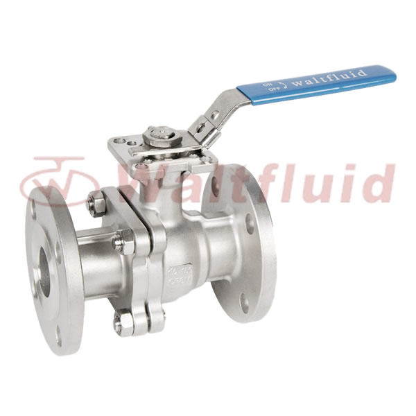 2-PC Stainless Steel Ball Valve Full Port,Flange  End 150Lb ISO5211-Direct Mount Pad