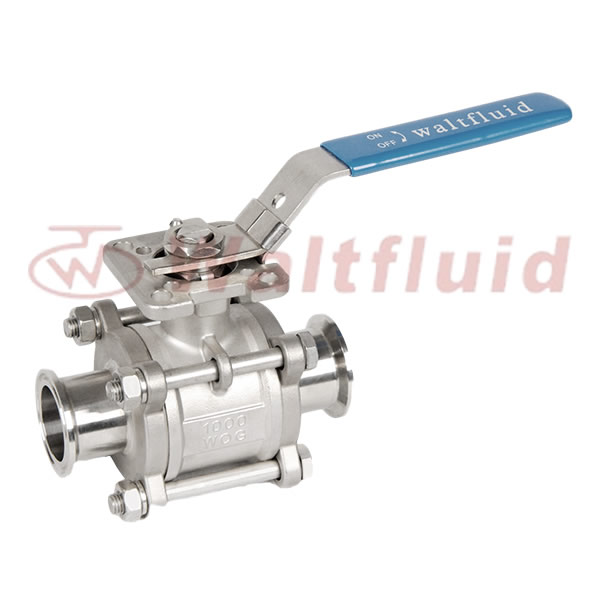 3PC Sanitary Ball Valve Clamp End 1000WOG(PN69)